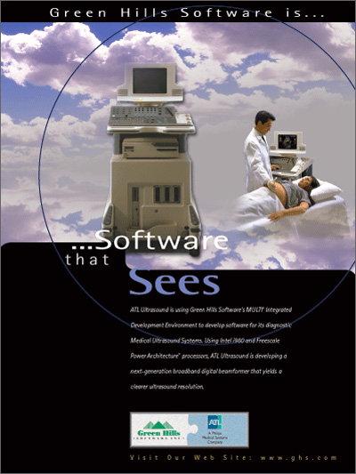 ATL Ultrasound is using Green Hills Software's MULTI IDE source code analysis tools & advanced debugger