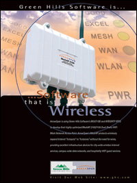 Arrowspan-WiFi Mesh Network Access Point, Embedded Wireless and Networking Platform, Routing, SCA, Secure communication, GATED, IPv4, IPv6, IEC 61508, FDA class2, SCA,802.11