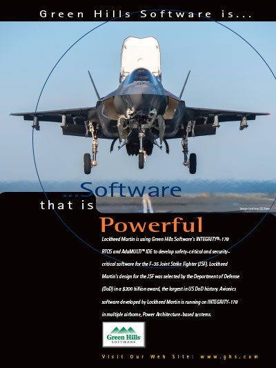 lockheed martin is using green hills software s integrity