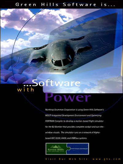 Northrop-Grumman using Green Hills Software's MULTI IDE and FORTRAN optimizing embedded compiler