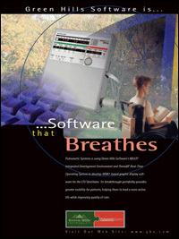 Pulmonetic Systems Ventilator Graphics Monitor, RTOS, Secure Systems, Small Footprint, VT Technology, Embedded Development Tools, Hypervisor, Toolkits, Toolchain