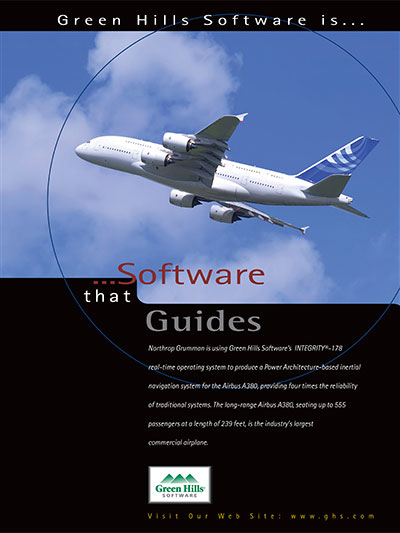 Northrop Gruman Airbus A380, Level A Certified RTOS, Certified POSIX IEEE 1003.13, MILS, EAL 6+ Safety Critical software