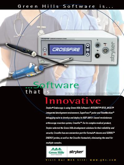 Endoscopy Suite: Stryker Endoscopy Is Using Green Hills Software's